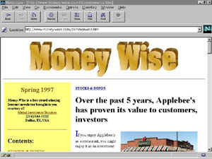 Money Wise on-line