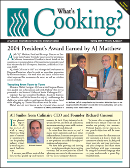 The article ideas listed here are often featured in the employee newsletters that CompanyNewsletters.com creates for its clients. This sample was produced for Culinaire International.